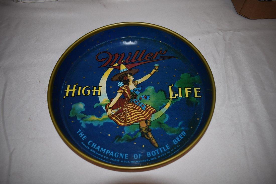 Vintage Miller High Life Beer Tray Original Form #303