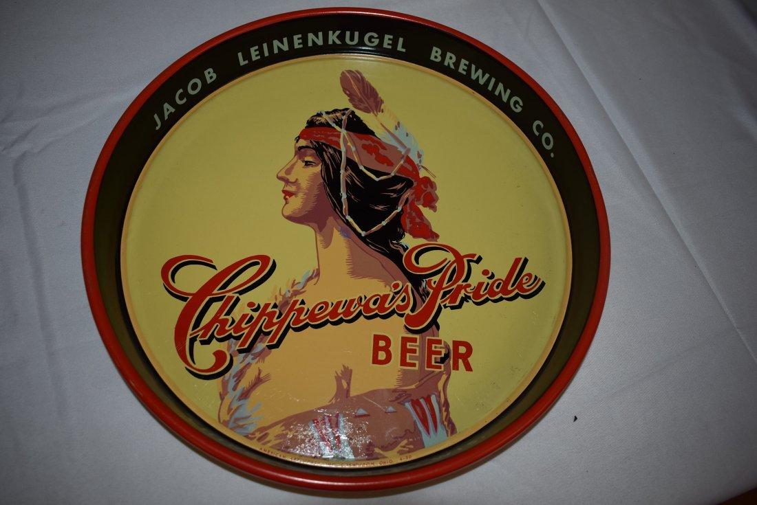 Leinenkugel Chippewa\'s Pride Beer Tray Vintage