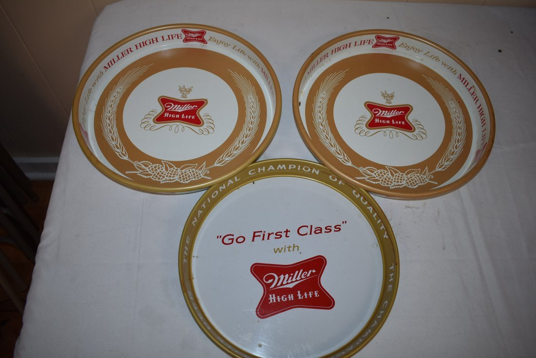 3 Miller High Life Beer Trays