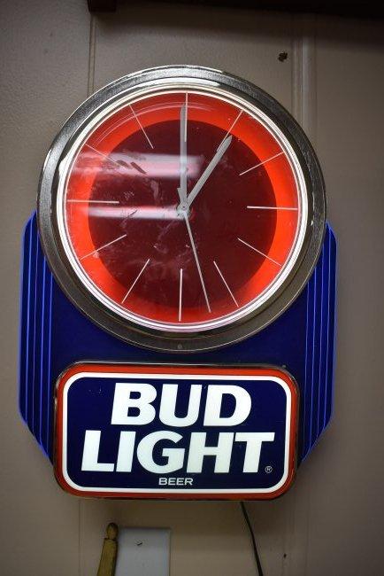 Bud Light Beer Clock Light
