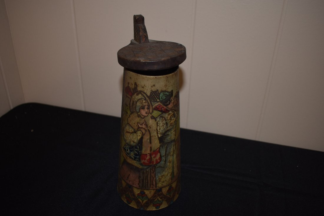Antique Russian Tin Beer Stein