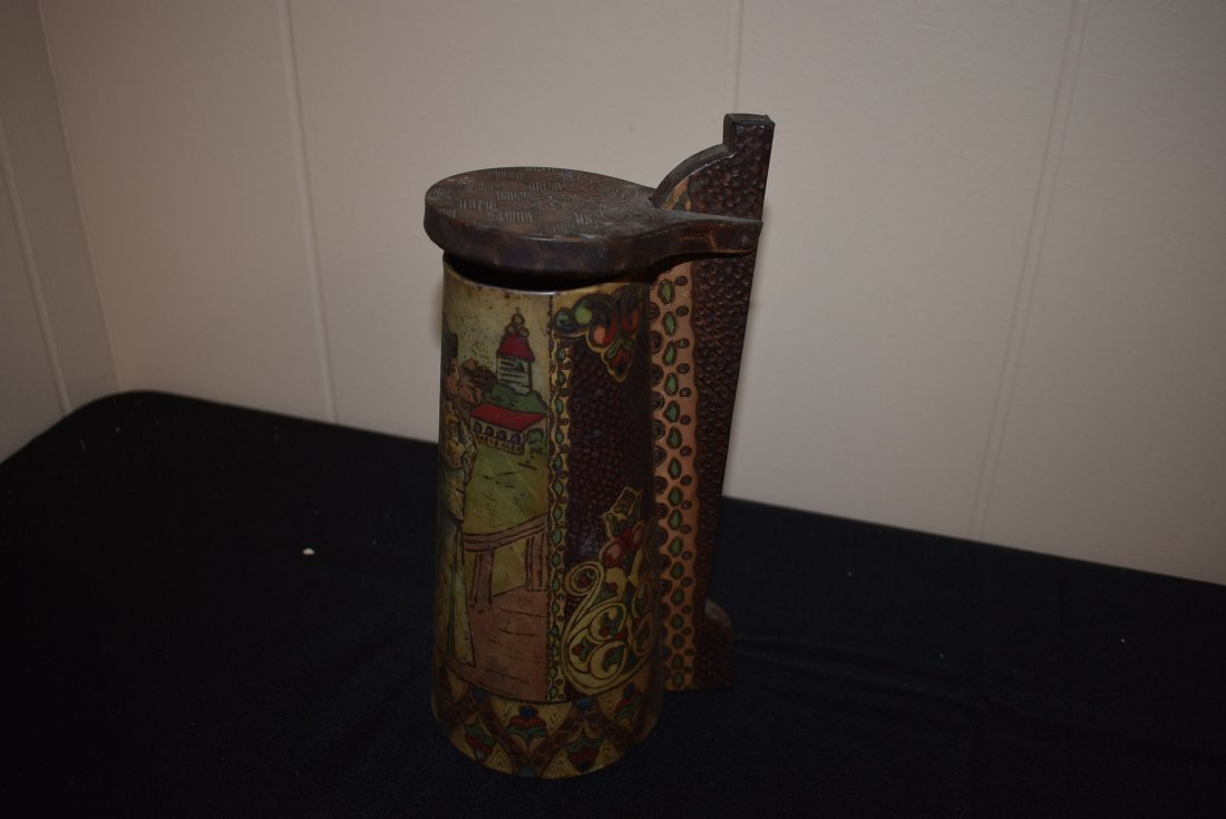 Antique Russian Tin Beer Stein - 2
