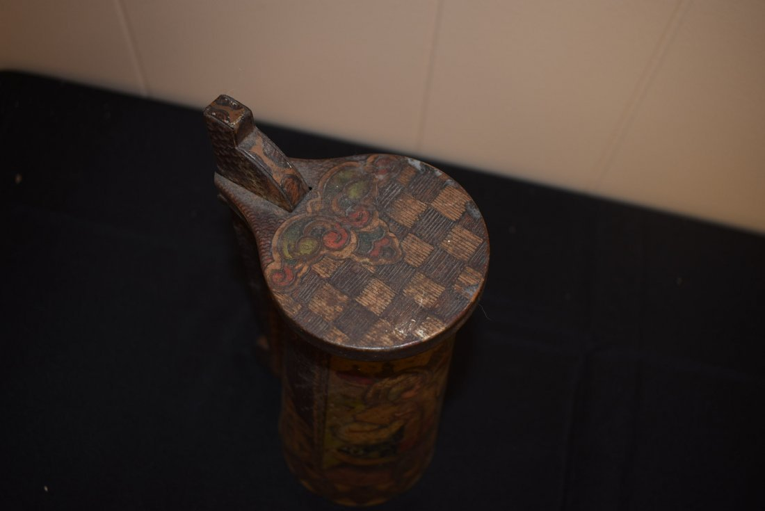 Antique Russian Tin Beer Stein - 4