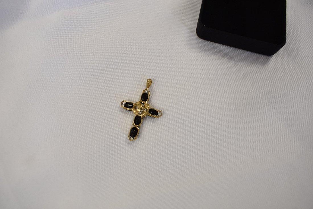 14K Gold Cross Pendant - 2