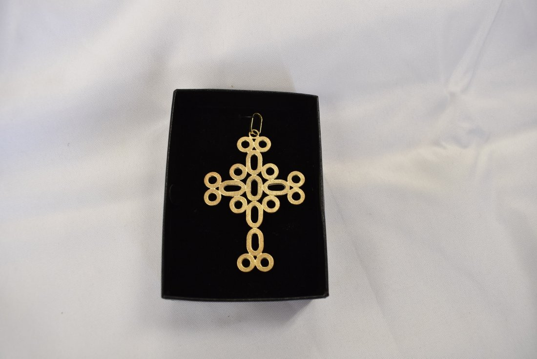 Large 14K Gold Cross Pendant