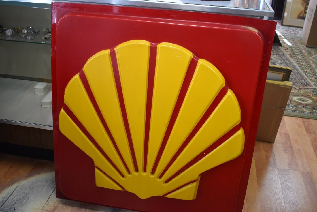 Shell Oil Gas Station Sign Insert