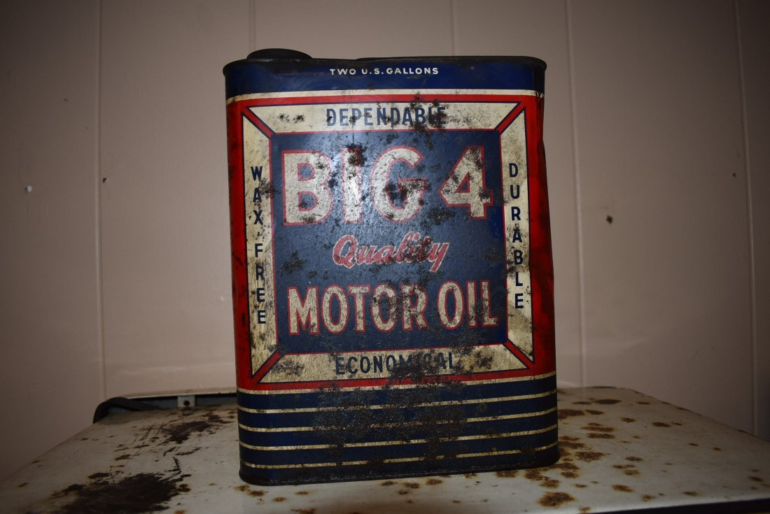 Vintage Big 4 Motor Oil Can
