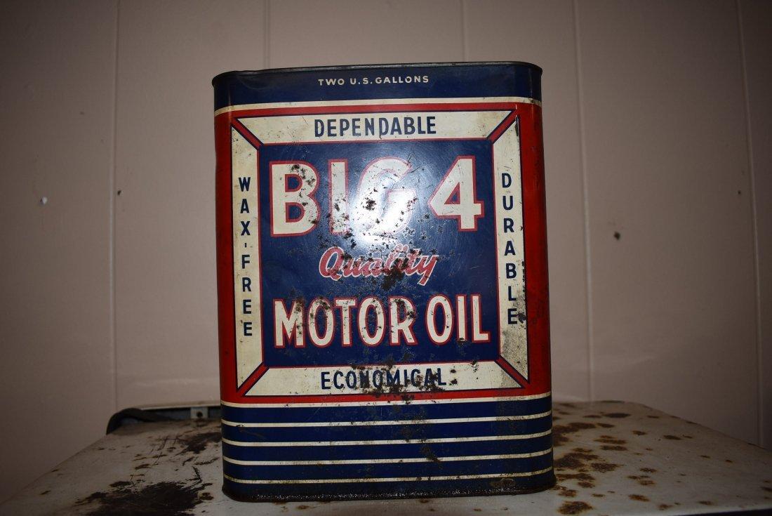 Vintage Big 4 Motor Oil Can - 2