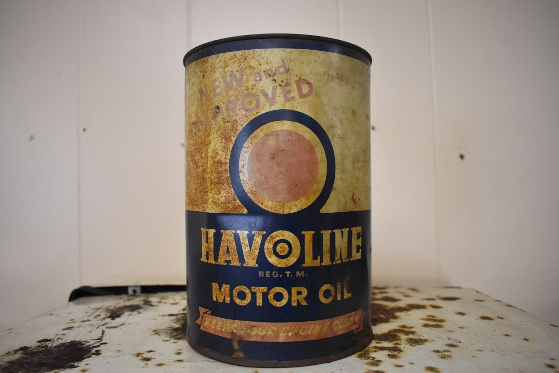 Vintage Havoline 5 qt Oil Can