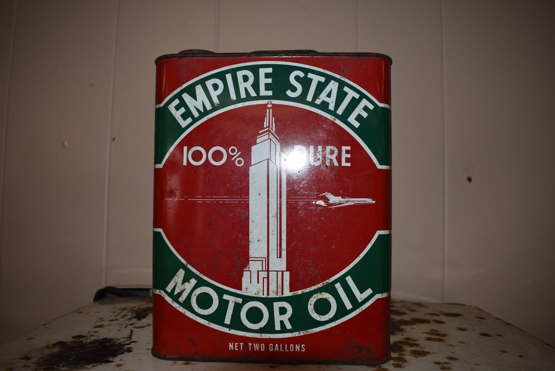 Vintage Empire State Motor Oil Can