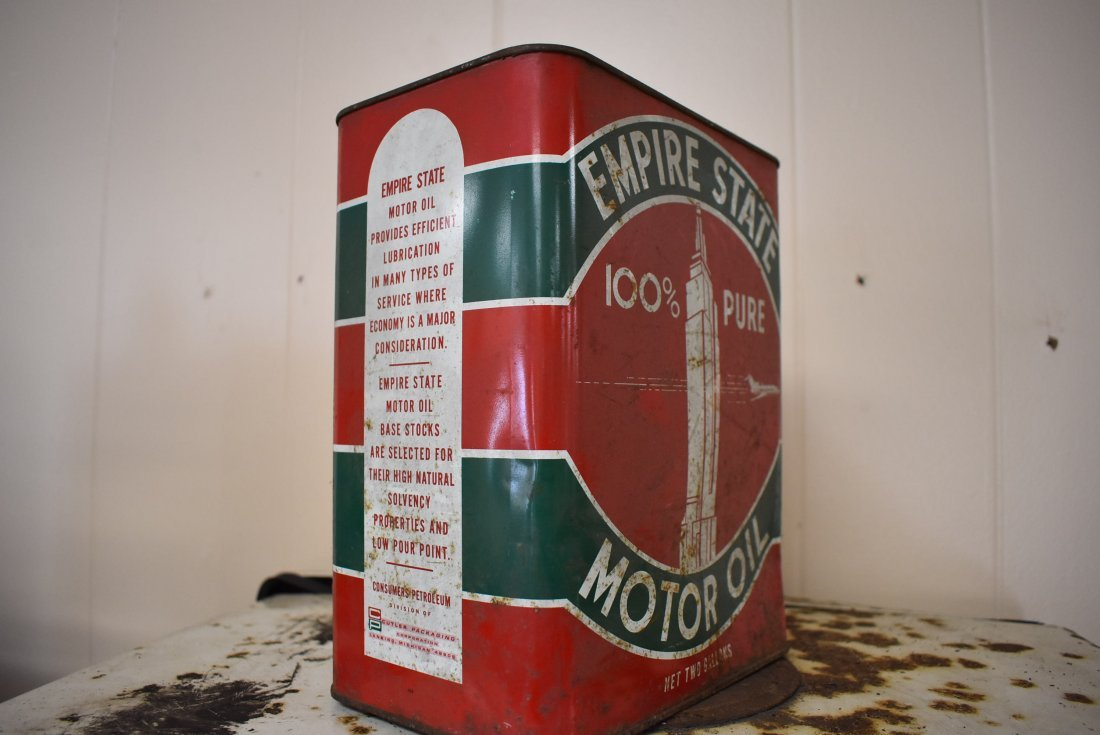 Vintage Empire State Motor Oil Can - 2