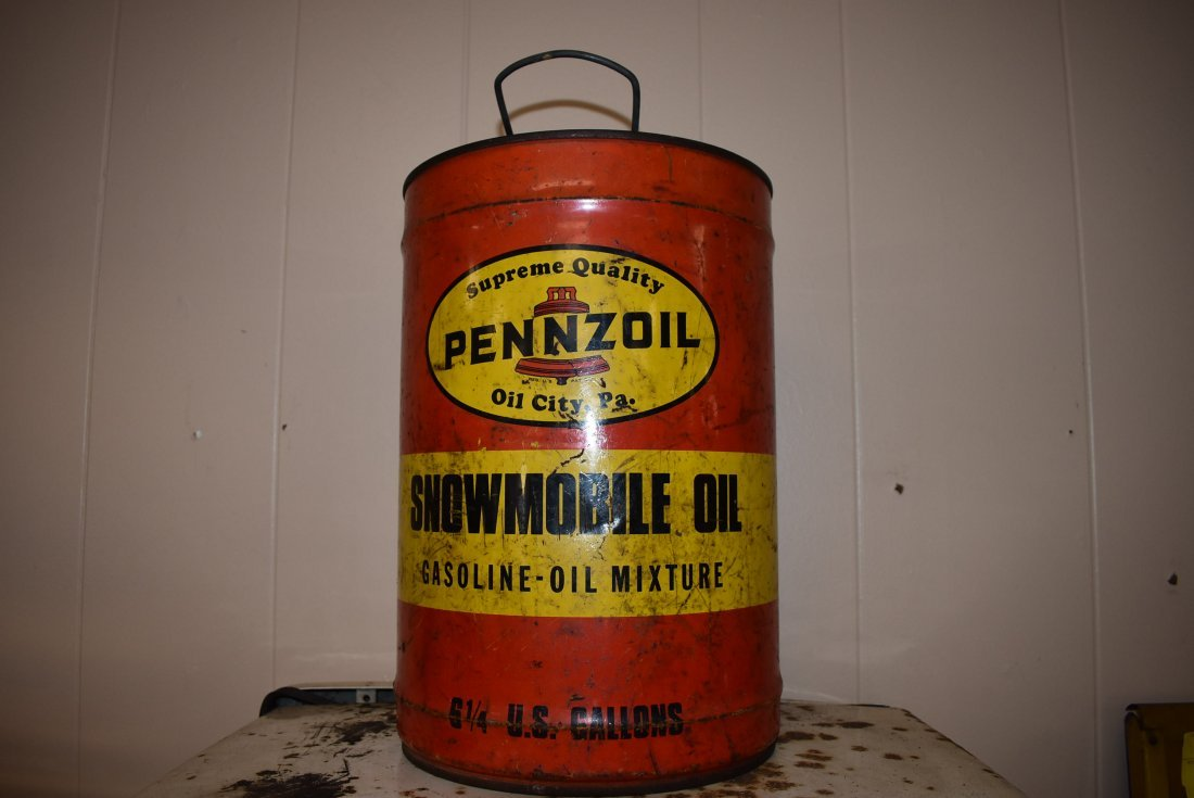 Vintage Pennzoil Snowmobile Mix Can
