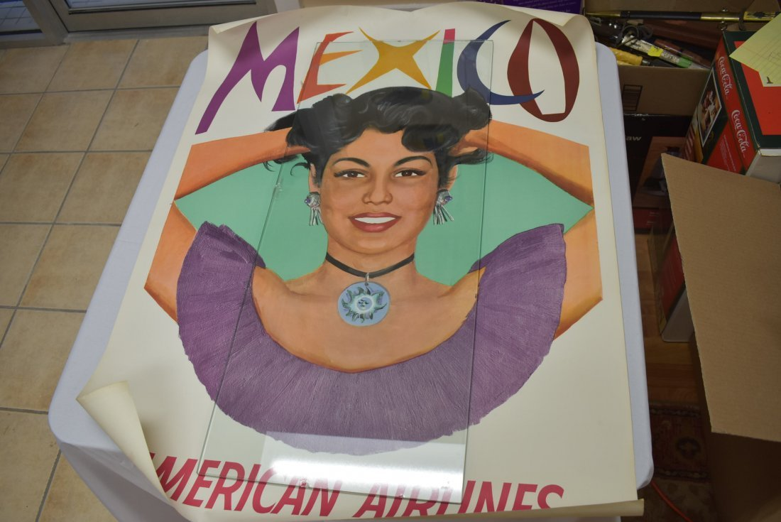 Vintage American Airlines Mexico Travel Poster