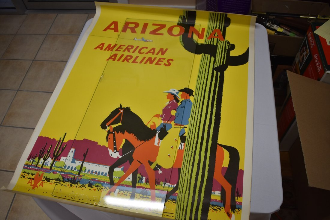 Vintage Americana Airlines Arizona Travel Poster