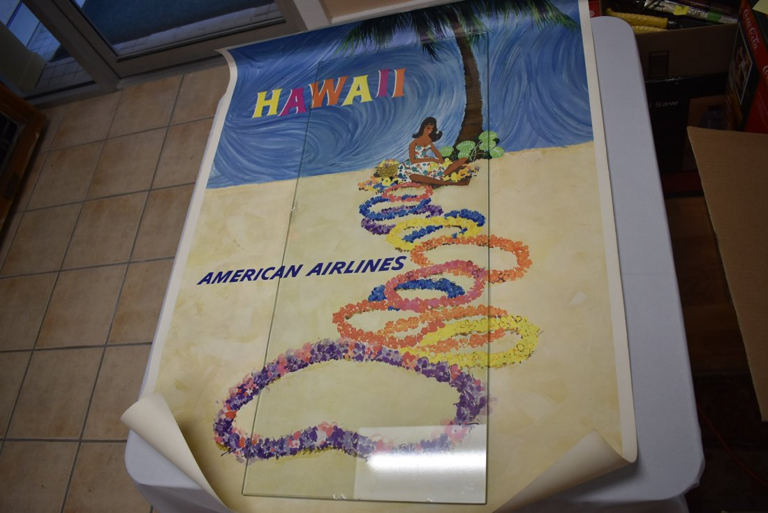 Vintage American Airlines Hawaii Travel Poster