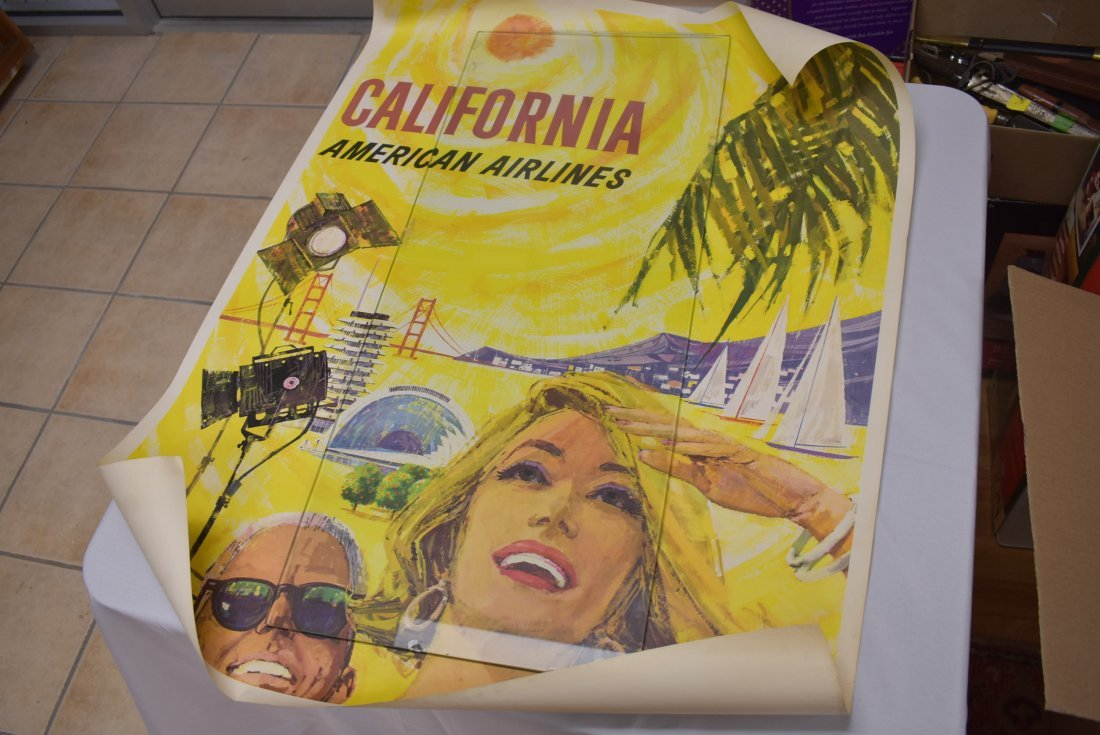 Vintage American Airlines California Travel Poster