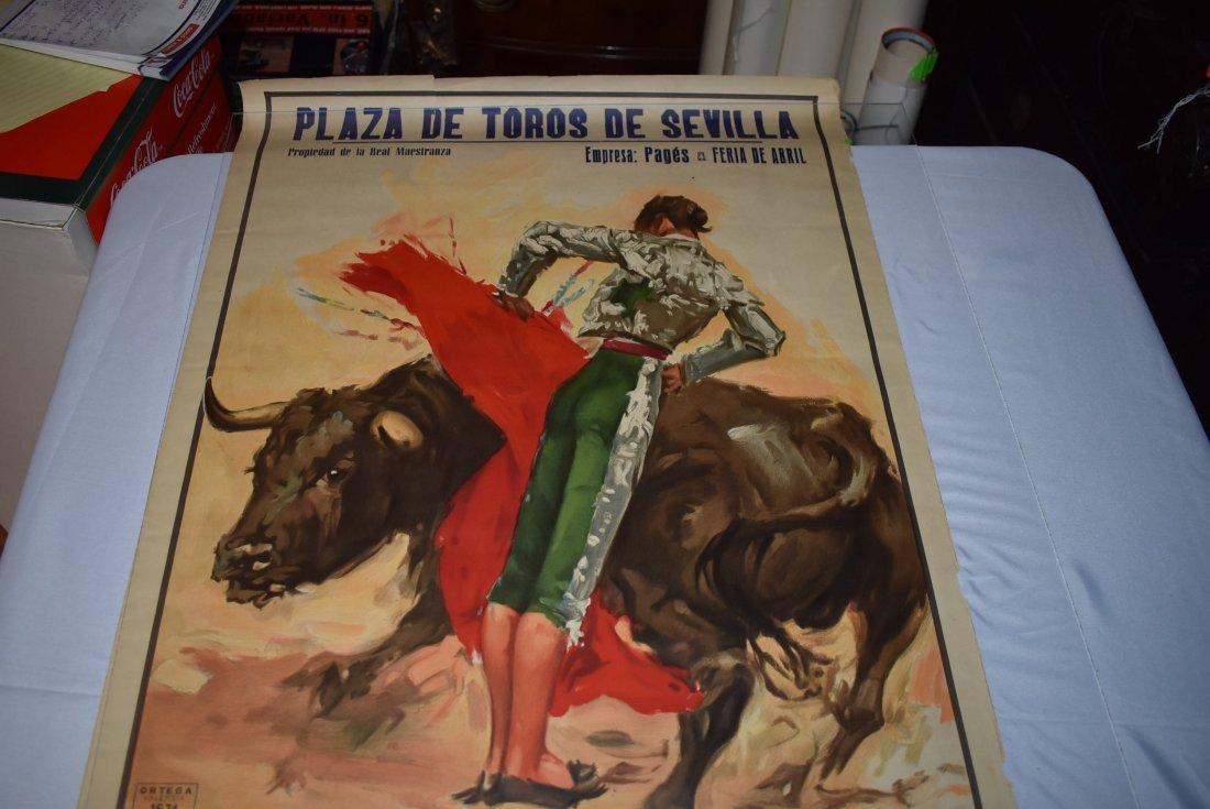 Original 1961 Plaza De Toros Bull Fighting Poster
