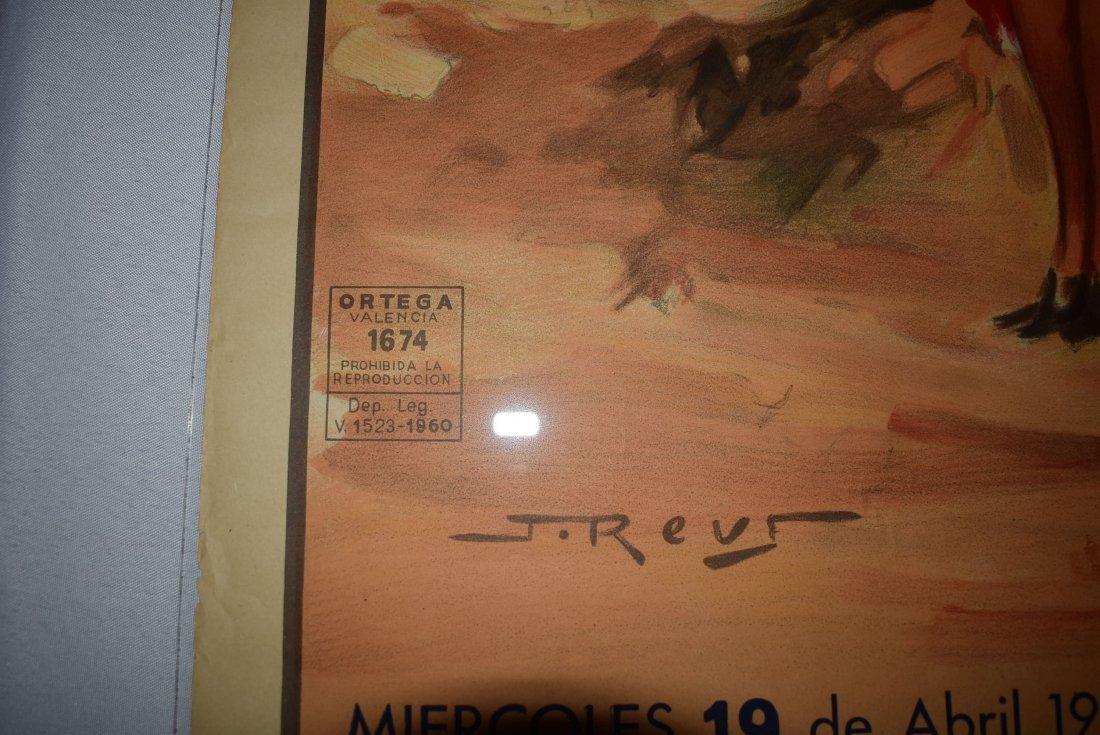 Original 1961 Plaza De Toros Bull Fighting Poster - 3