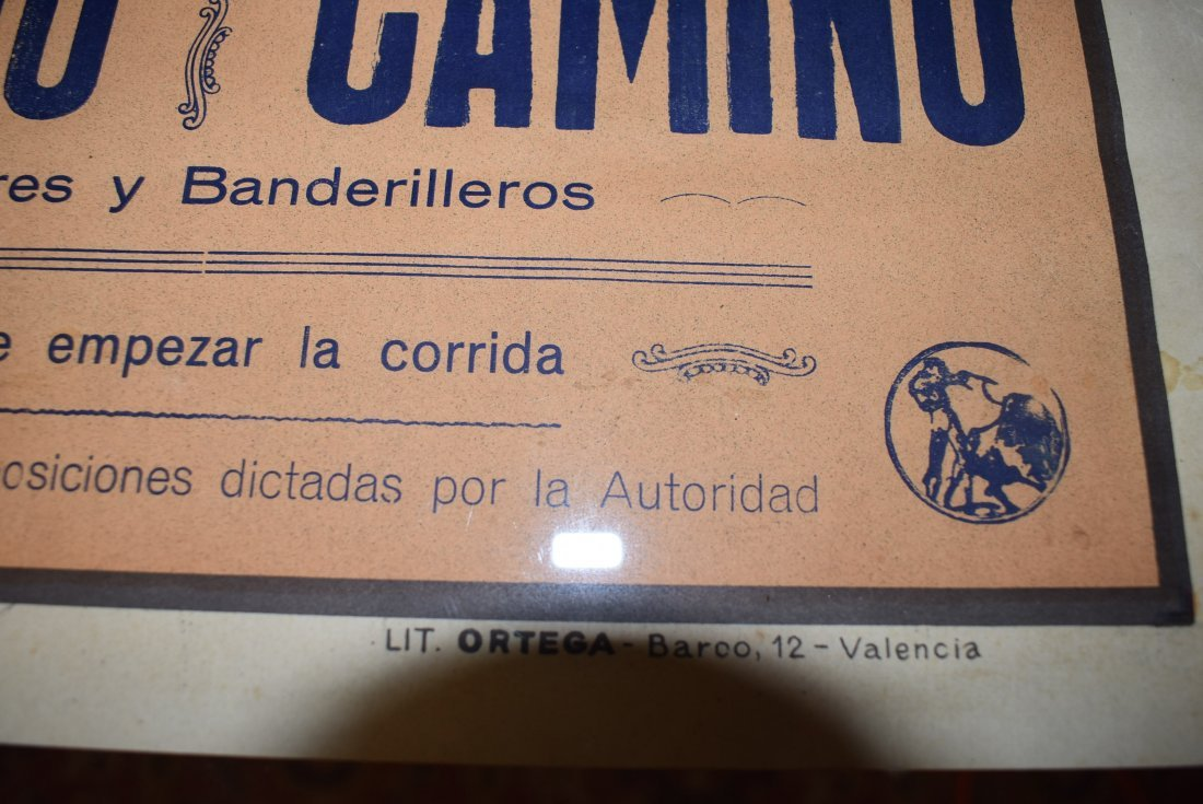 Original 1961 Plaza De Toros Bull Fighting Poster - 4