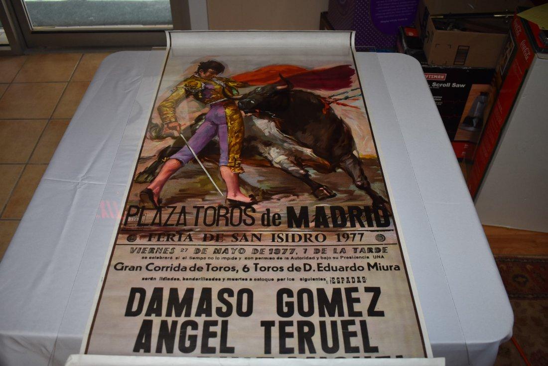 1977 Bull Fighting Poster