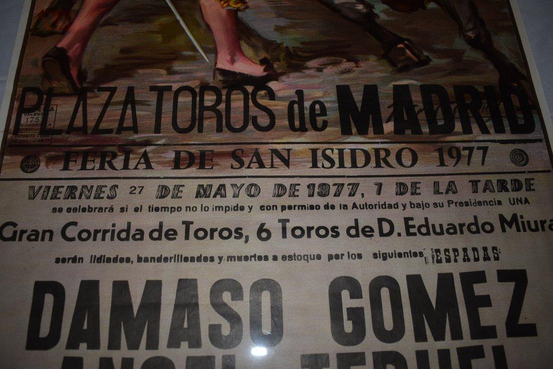 1977 Bull Fighting Poster - 2