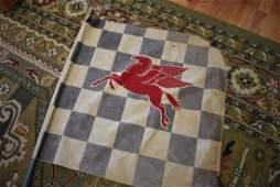 Vintage Mobil Oil Pegasus Checkered Flag
