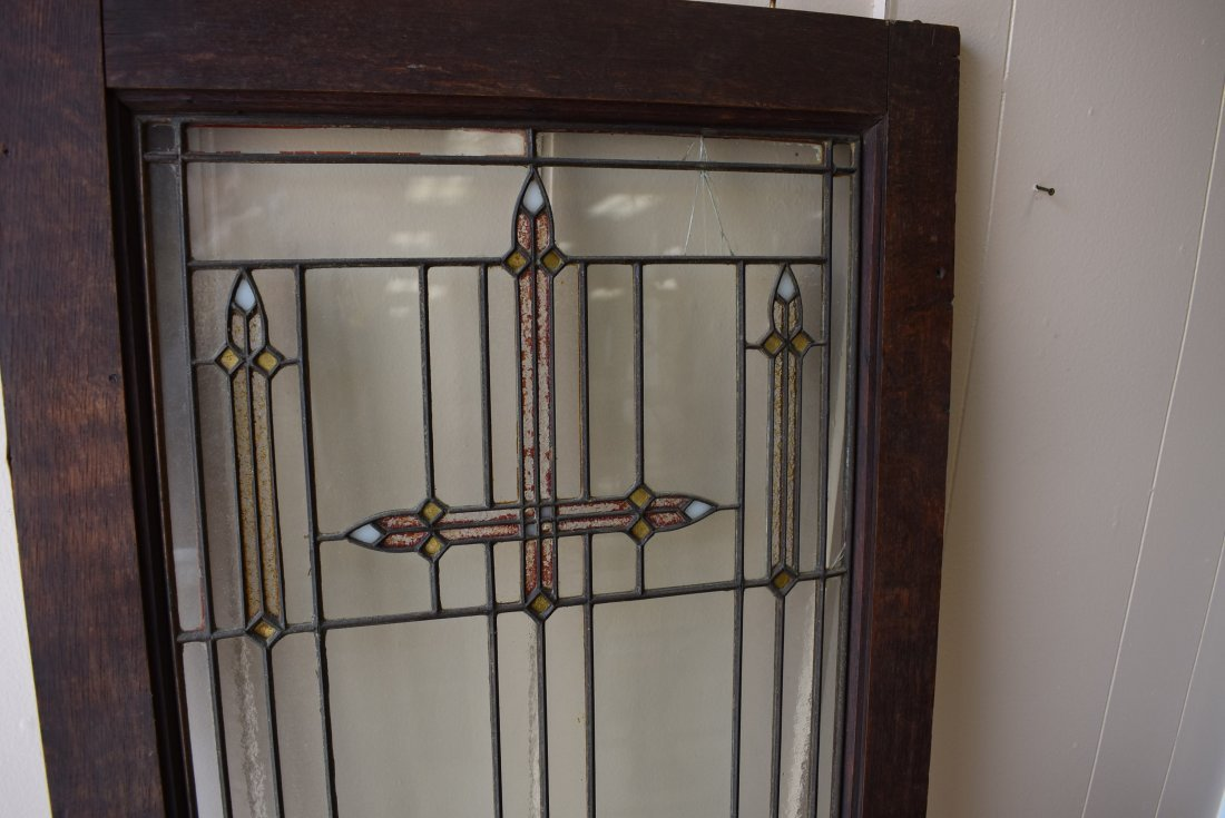 Vintage Stained Glass in Frame - 2