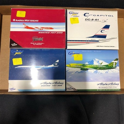 Four Model Diecast Airplanes Portland Timbers