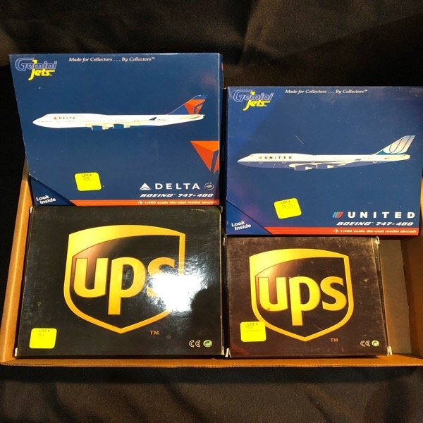 Four Diecast Model Airplanes 1:400