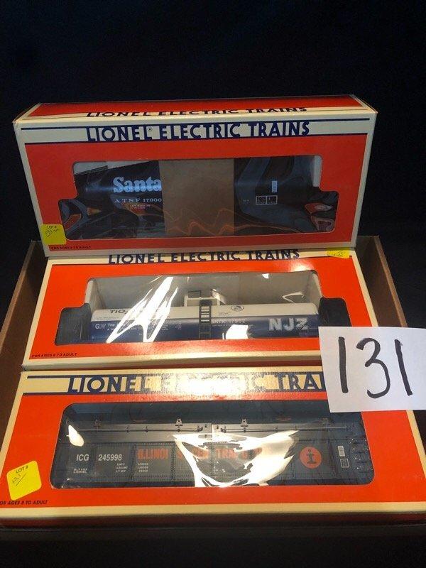 three pc. Lionel train car lot - 2