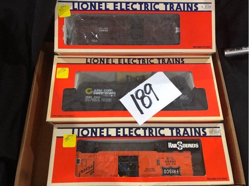 3pc Lionel Train Lot