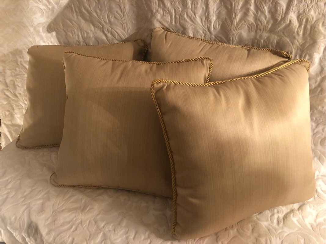 Four French Pattern Pillows - 2