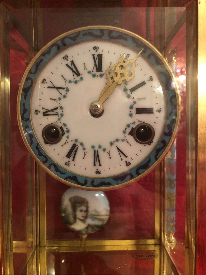 Vintage Beautiful Chinese Cloissone Clock - 2