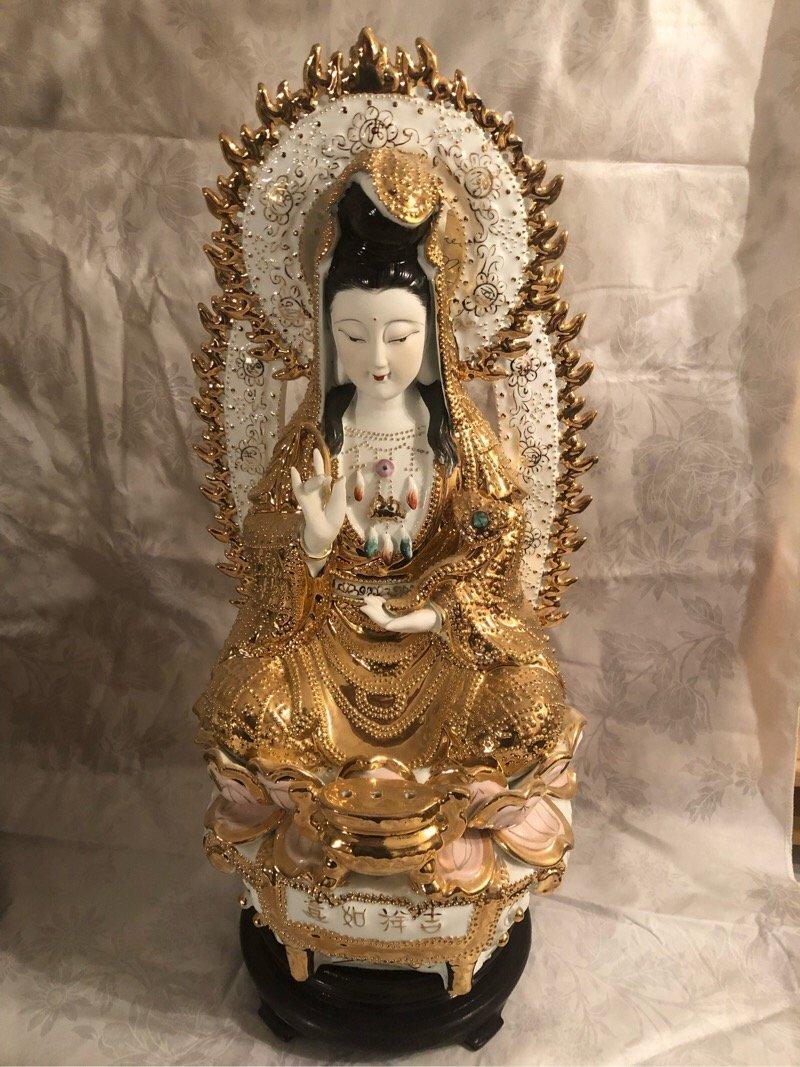 Rare Goddess of Mercy Porcelain Statue Figurine