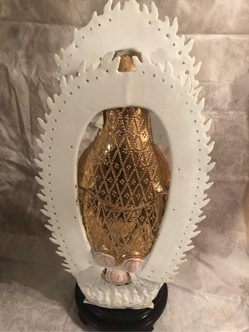 Rare Goddess of Mercy Porcelain Statue Figurine - 3