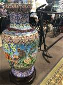 """Enormous Cloisonne Vase on stand 47"""""""