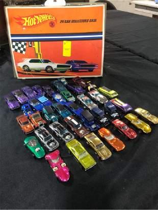35 1967 68 69 Vintage Hot Wheels REDLINE Car Lot Case +