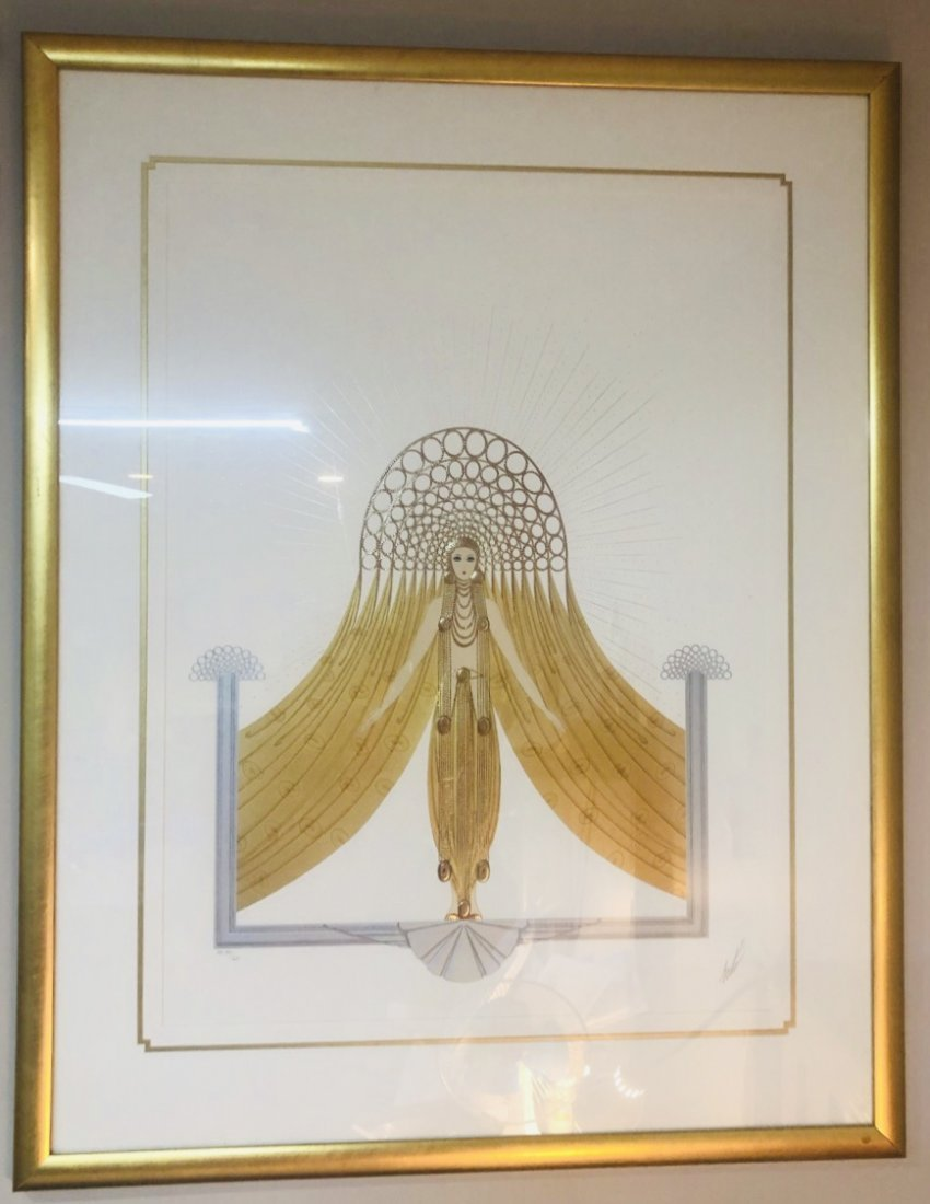 Erte Artist Proof Framed Art 35 of  60 Myth Suite COA
