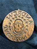Very Rare Andrew Jackson Butter Mold Stamp Folk Art