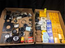 Antique Camera Lens Filter Lot Adapter Rings & More