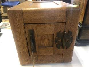 Antique Oak Safe Mini