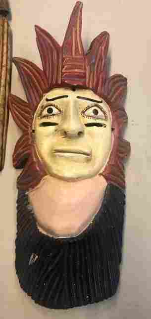 Mexican Folk Art Mask Vintage