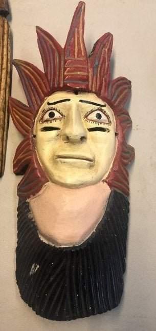 Mexican Folk Art Mask Vintage