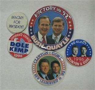 5 Political Buttons: 1992-1996