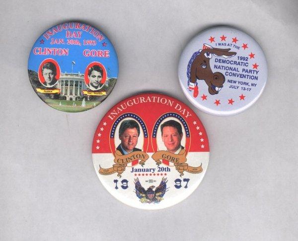1C: 3 Political Items: Clinton/Gore