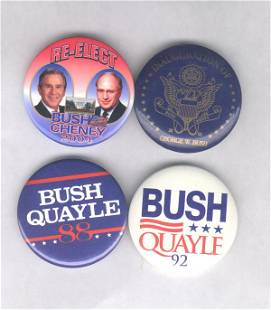 4 Political Items: 2 Bush & 2 Bush Sr.