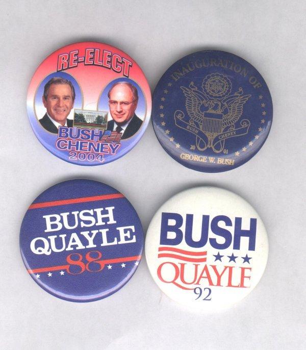 1D: 4 Political Items: 2 Bush & 2 Bush Sr.