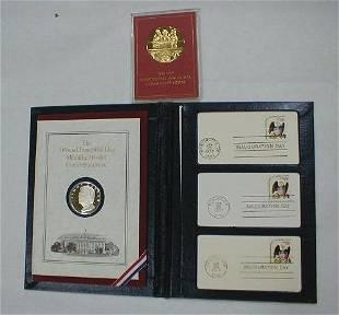 2 Sterling Political Medals: Carter