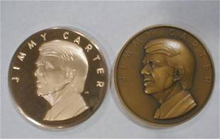 2 Bronze Inaugural Medals: Jimmy Carter