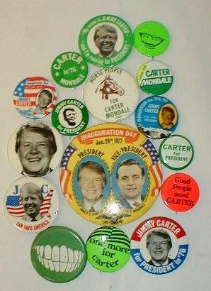 4B: 16 Political Items: Jimmy Carter